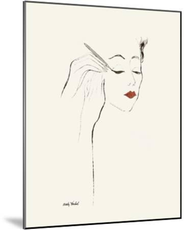 Untitled (Female Head and Hands Applying Eyeliner), c. 1955-Andy Warhol-Mounted Art Print