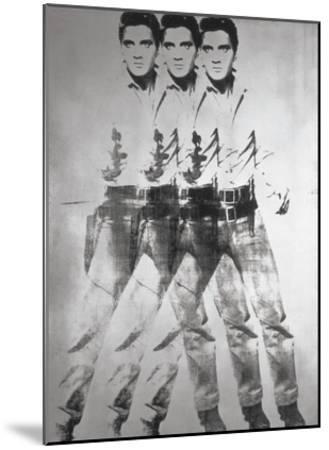 Triple Elvis®, 1963-Andy Warhol-Mounted Art Print