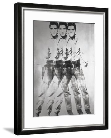 Triple Elvis®, 1963-Andy Warhol-Framed Art Print