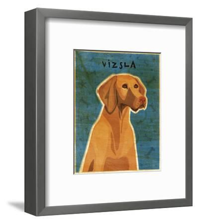 Vizsla-John W^ Golden-Framed Art Print