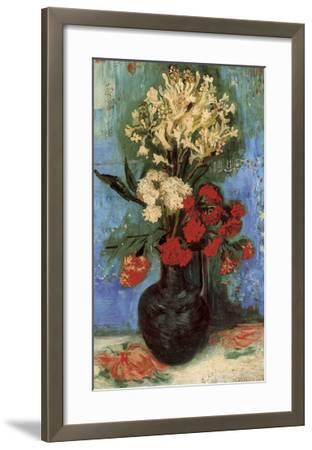 Vase with Carnations and Other Flowers, 1886-Vincent van Gogh-Framed Art Print
