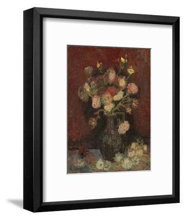 Vase with Chinese Asters and Gladioli, 1886-Vincent van Gogh-Framed Art Print