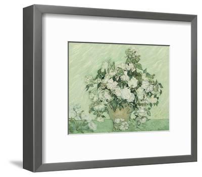 Vase with Pink Roses, 1890-Vincent van Gogh-Framed Art Print