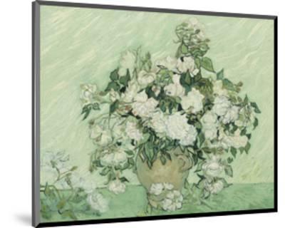 Vase with Pink Roses, 1890-Vincent van Gogh-Mounted Art Print