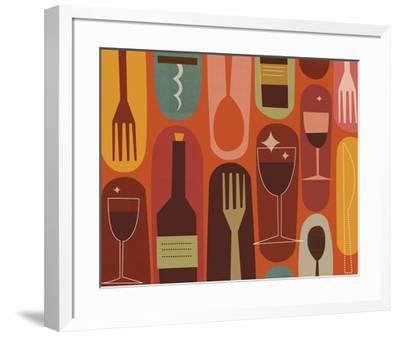 Wine & Dine-Jenn Ski-Framed Art Print