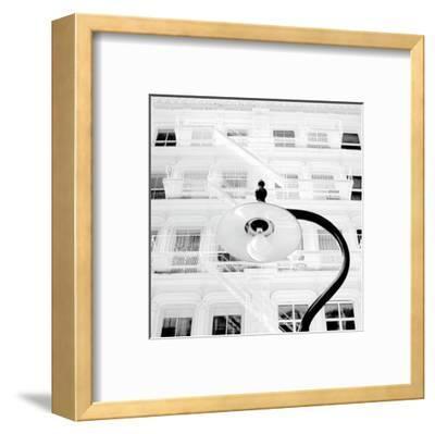 White Facade (B&W)-Erin Clark-Framed Art Print