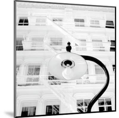 White Facade (B&W)-Erin Clark-Mounted Art Print