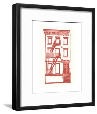 Williamsburg Building 7 (S. 4th and Driggs Ave.)-live from bklyn-Framed Art Print
