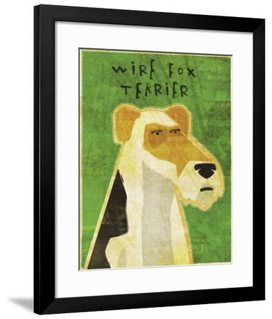 Wire Fox Terrier-John W^ Golden-Framed Art Print