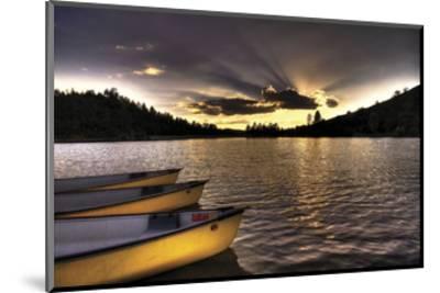 Yellow Canoes-Bob Larson-Mounted Art Print