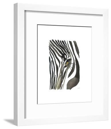 Zebra Eye-Jessica Durrant-Framed Art Print