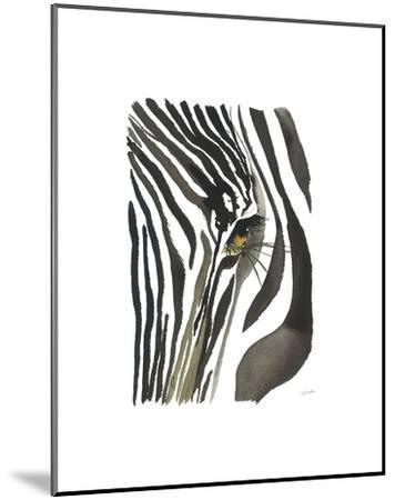 Zebra Eye-Jessica Durrant-Mounted Art Print