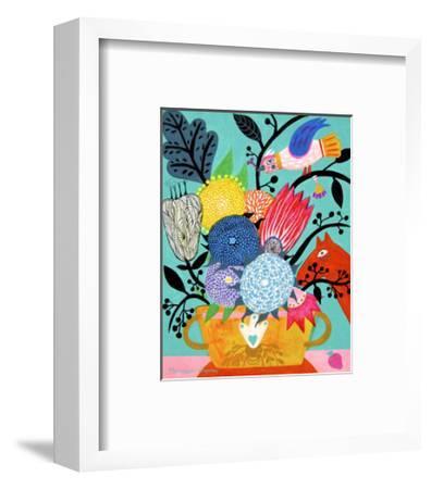 Flowers n. 8-Mercedes Lagunas-Framed Art Print