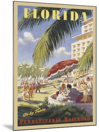 Florida Go by Train-Vintage Poster-Mounted Art Print