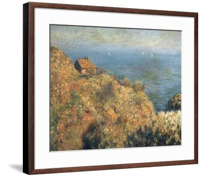 Fisherman's Lodge at Varengeville-Claude Monet-Framed Art Print
