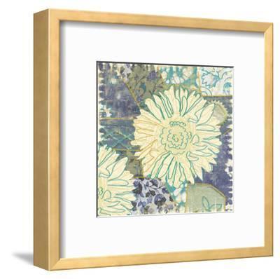 Flower with Fabric-Erin Clark-Framed Art Print