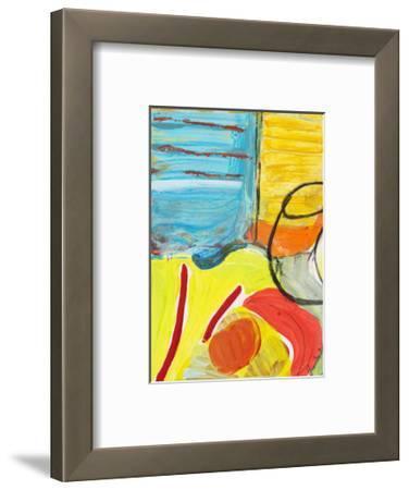 Glass Bowl by the Beach Window-Joan Davis-Framed Art Print