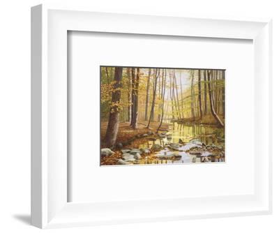 Golden Flow-Gene Mcinerney-Framed Art Print