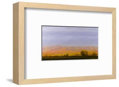 Golden Light on Blue Mountains-Todd Telander-Framed Art Print