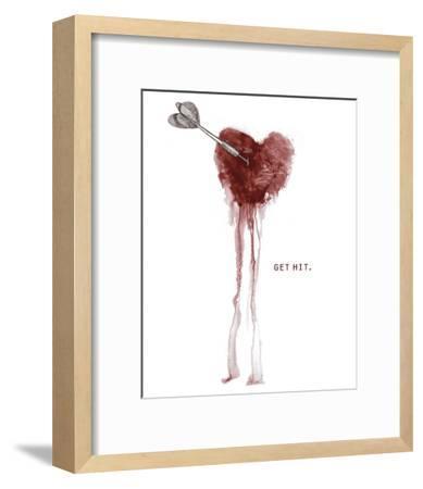 Get Hit-Urban Cricket-Framed Art Print
