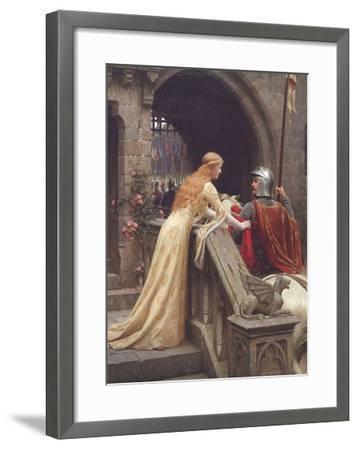 God Speed-Edmund Leighton-Framed Art Print