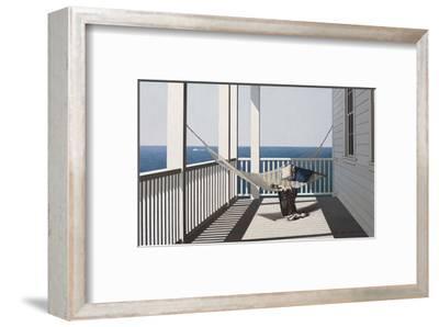 Hammock with Beach Towel-Zhen-Huan Lu-Framed Art Print