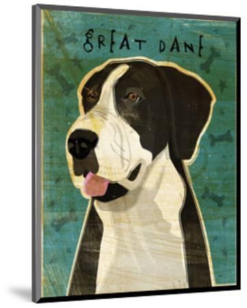 Great Dane (Mantle, no crop)-John W^ Golden-Mounted Art Print