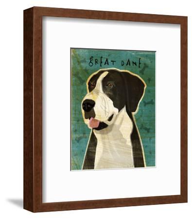 Great Dane (Mantle, no crop)-John W^ Golden-Framed Art Print
