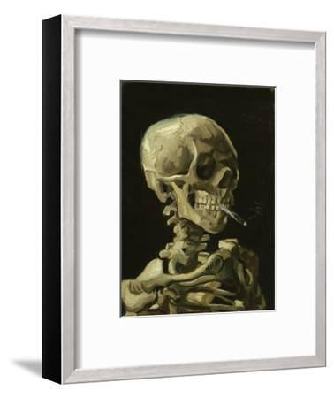 Head of a Skeleton with a Burning Cigarette, 1886-Vincent van Gogh-Framed Art Print