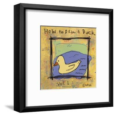 How to Draw a Duck-Brian Nash-Framed Art Print
