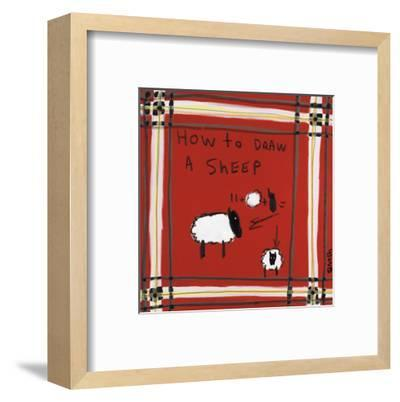 How to Draw a Sheep-Brian Nash-Framed Art Print