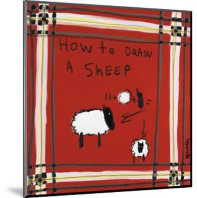 How to Draw a Sheep-Brian Nash-Mounted Art Print