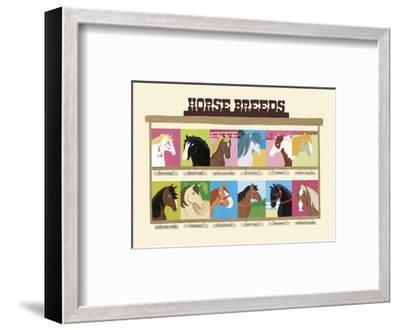 Horse Breeds-Janell Genovese-Framed Art Print