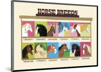 Horse Breeds-Janell Genovese-Mounted Art Print
