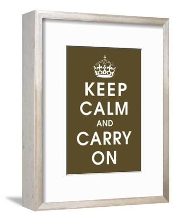 Keep Calm (chocolate)-Vintage Reproduction-Framed Art Print