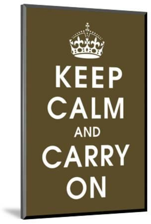 Keep Calm (chocolate)-Vintage Reproduction-Mounted Art Print