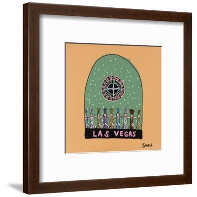 Las Vegas Snow Globe-Brian Nash-Framed Art Print