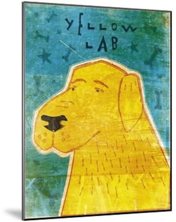 Lab (yellow)-John W^ Golden-Mounted Art Print