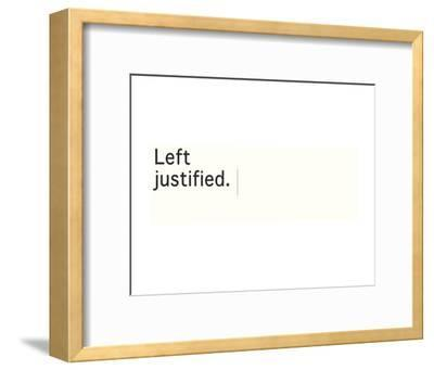 Left Justified-Urban Cricket-Framed Art Print