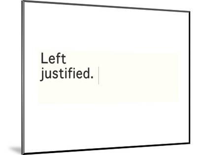 Left Justified-Urban Cricket-Mounted Art Print
