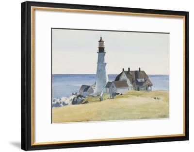 Lighthouse and Buildings, Portland Head, 1927-Edward Hopper-Framed Art Print