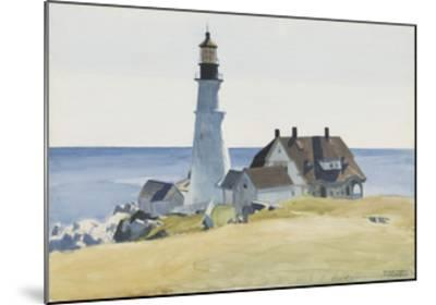 Lighthouse and Buildings, Portland Head, 1927-Edward Hopper-Mounted Art Print