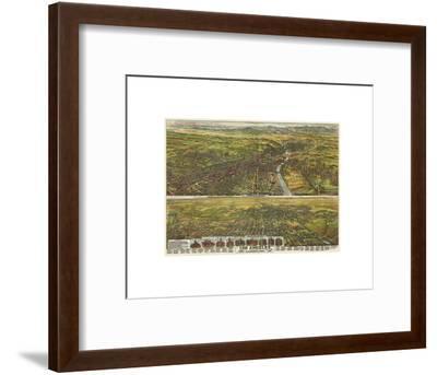 Los Angeles, California, 1894-B^W^ Pierce-Framed Art Print
