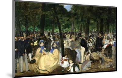 Music in the Tuileries, 1862-Edouard Manet-Mounted Art Print