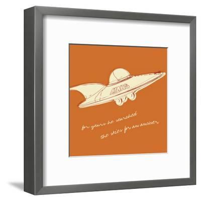 Lunastrella Flying Saucer (square)-John W^ Golden-Framed Art Print