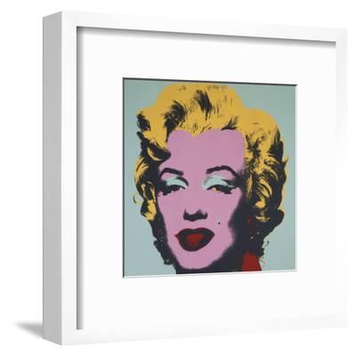 Marilyn, 1967 (on blue ground)-Andy Warhol-Framed Art Print