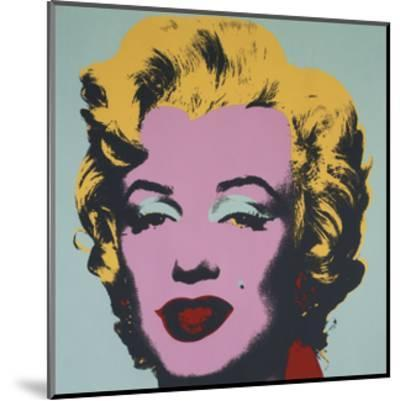Marilyn, 1967 (on blue ground)-Andy Warhol-Mounted Art Print