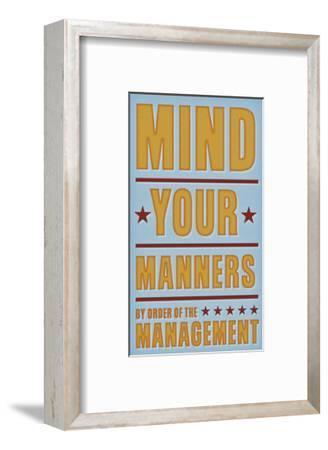 Mind Your Manners-John W^ Golden-Framed Art Print