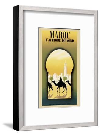 Maroc L'Afrique du Nord-Steve Forney-Framed Art Print