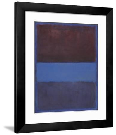 No. 61 (Rust and Blue) [Brown Blue, Brown on Blue], 1953-Mark Rothko-Framed Art Print